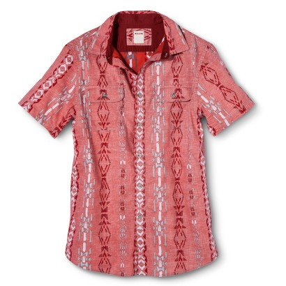 Mossimo Supply Co. Men's Red Print Shirt