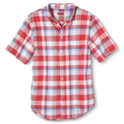 Merona Men's Short Sleeve Plaid Shirt