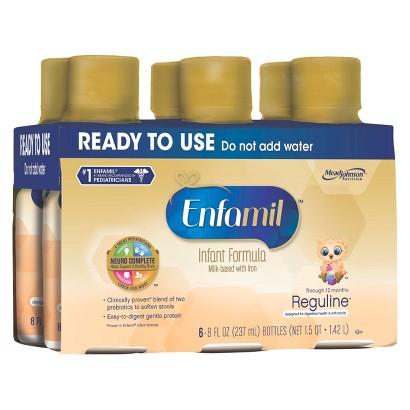 Enfamil Reguline Ready-to- Use Formula - 8oz (4 Pack of 6 bottles per pack)