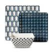 Threshold™ Square 12 Piece Honeycomb Dinnerware Set - Blue