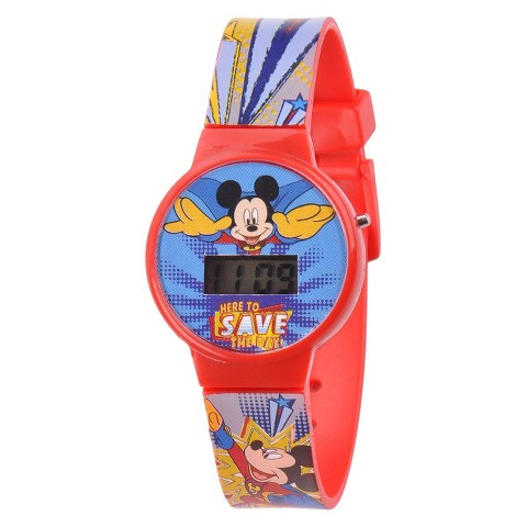 Kid's Disney® Mickey Watch - Red