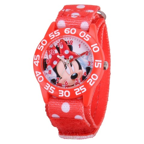 Kid's Disney Minnie Watch - Red