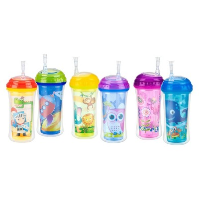 Nuby Cup Insulated Flexi-Straw Sippy Cup - Assorted Colors
