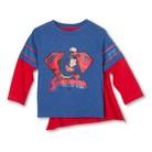 Superman Infant Toddler Boys' Long Sleeve Cape Tee