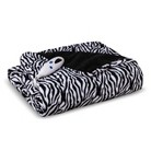 Biddeford Heated Microplush Throw - Zebra