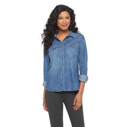 Women's Favorite Button Down Denim Shirt