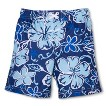 Toddler Boys' Hibiscus Flower Swim Trunks