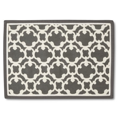 Threshold™ 4 Pack Lattice Placemat - Grey (14 X19 )