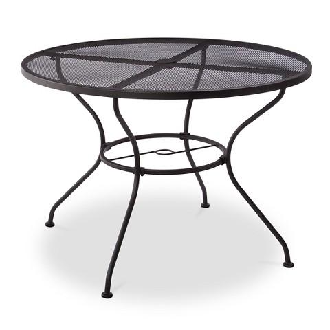 hamlake wrought iron patio dining table target