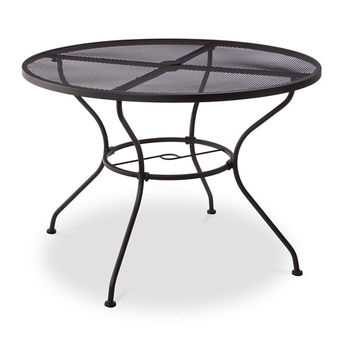 Hamlake Wrought Iron Round Patio Dining Table Product Details Page