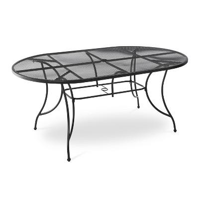 Hamlake Wrought Iron Rectangular Patio Dining Table