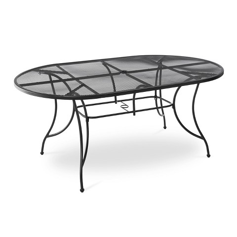 Hamlake Wrought Iron Rectangular Patio Dining Table Product Details