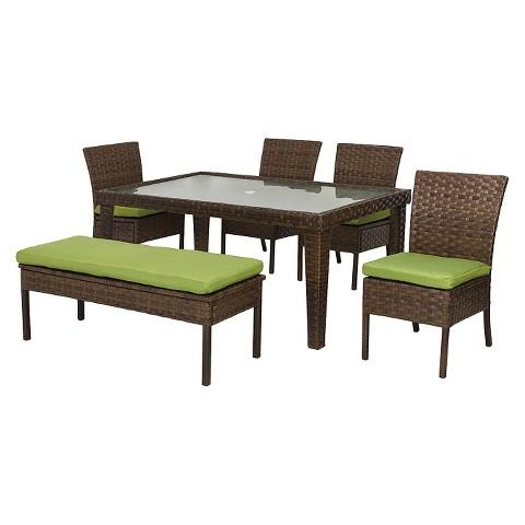 Belmont Wicker 6-Piece Patio Dining Set