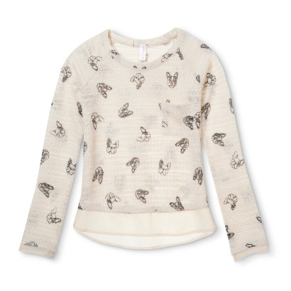 Girls' Printed Knit Sweater