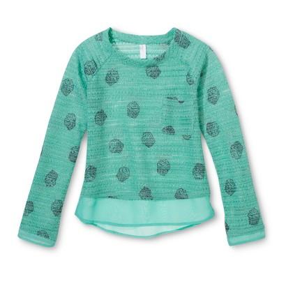 Girls' Printed Knit Sweater