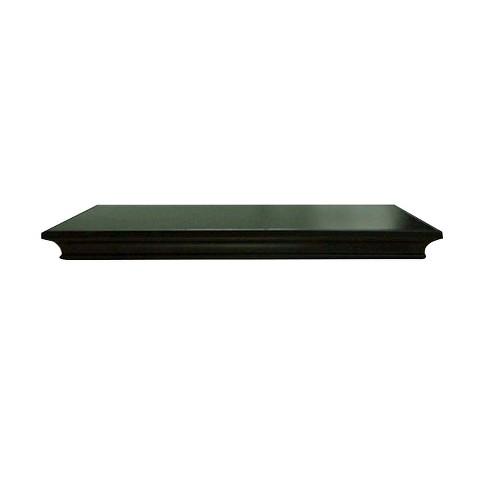 """Threshold™ Traditional Wall Shelf - Black; 24"""""""