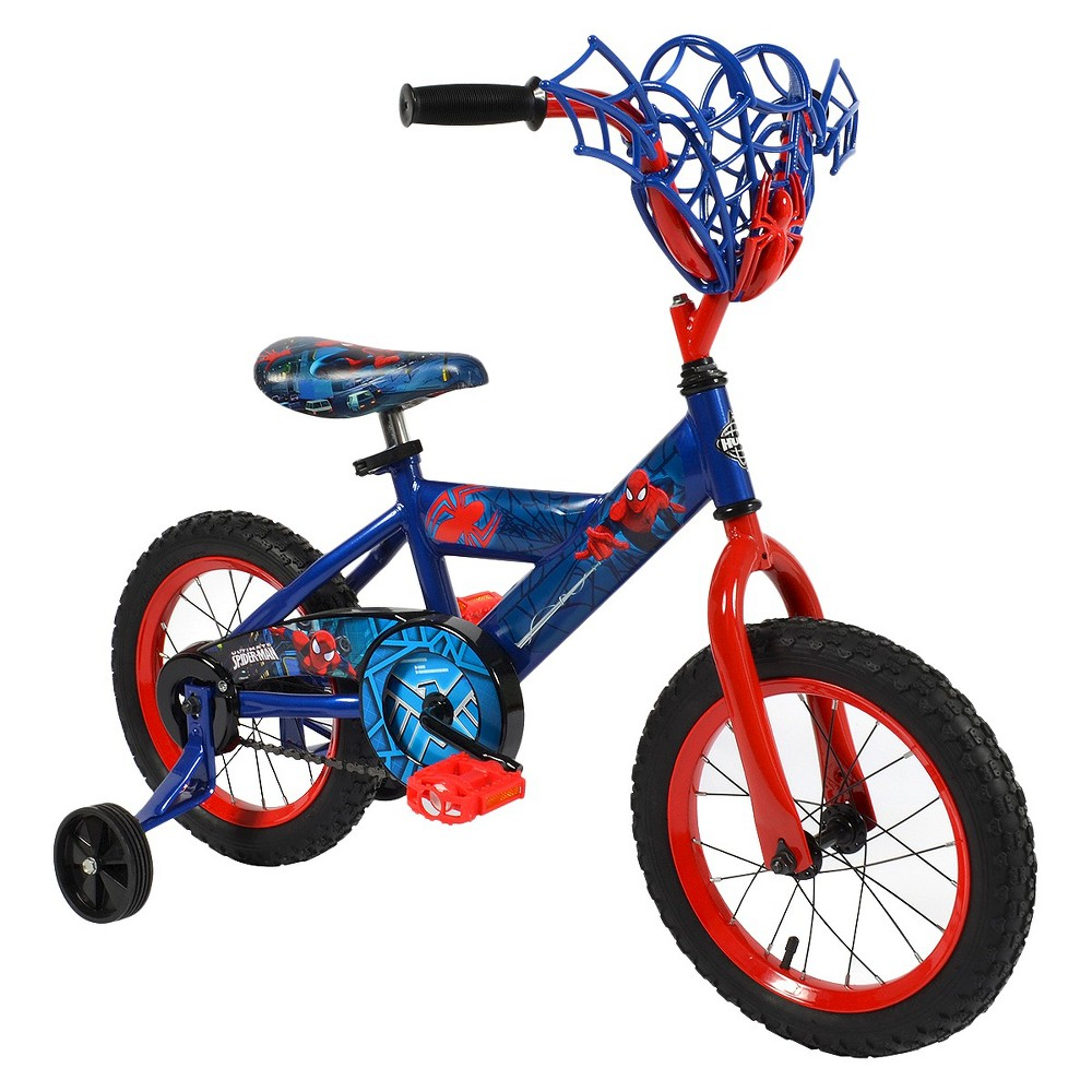 Huffy Spider-Man Bike 14 - Blue/Red, Royal Blue