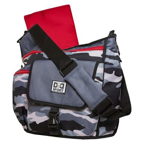 Diaper Dude Sport Camo Messenger Diaper Bag - Gray