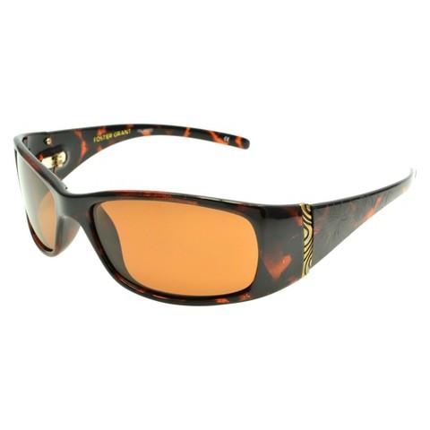 Women's Foster Grant Polarized Wrap Sunglasses - Brown