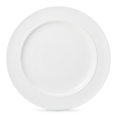 Threshold™ Dashed Line Dinner Plate Set of 4 - White