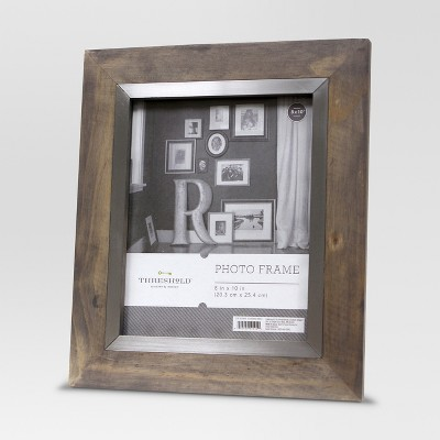 "8""x10'"" Grey Wash Frame with Antique Silver Inner - Threshold™"
