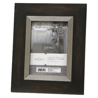 Threshold™ Frame with Antique Silver Inner - Black 5X7