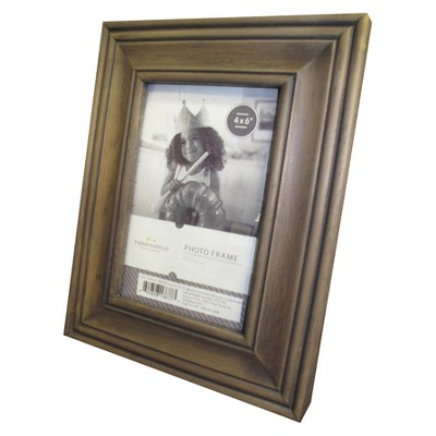 "4""x6"" Grey Distressed Wood Frame - Threshold™"