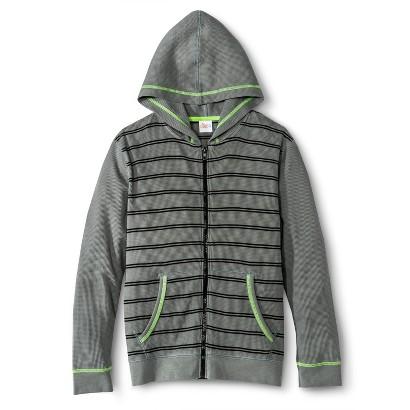 Boys' Striped Zip-Up Hoodie