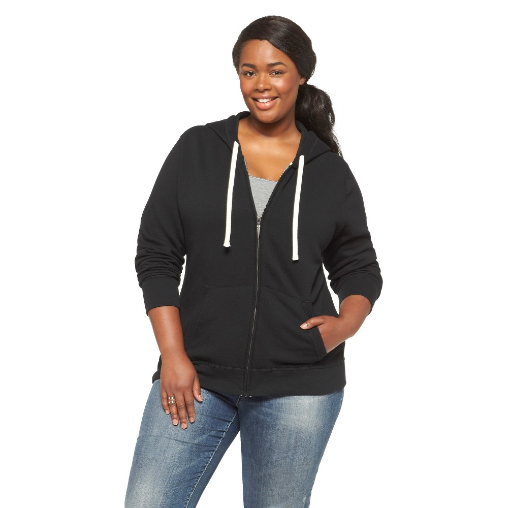 Mossimo Supply Co. Plus Size Long Sleeve Fleece Hoodie-Mossimo Supply Co