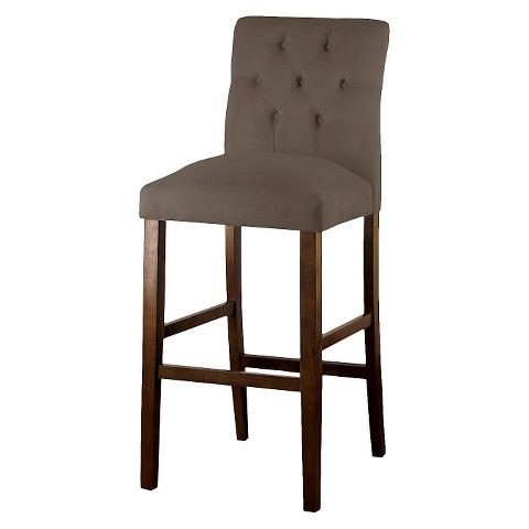 Threshold Brookline Tufted Velvet 29 Barstool Target