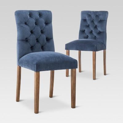 Brookline Tufted Velvet Dining Chair - Midnight Blue (Set of 2) - Threshold™