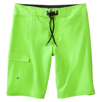 "Mossimo Supply Co. Men's 11"" Lime Green Solid Boardshorts"