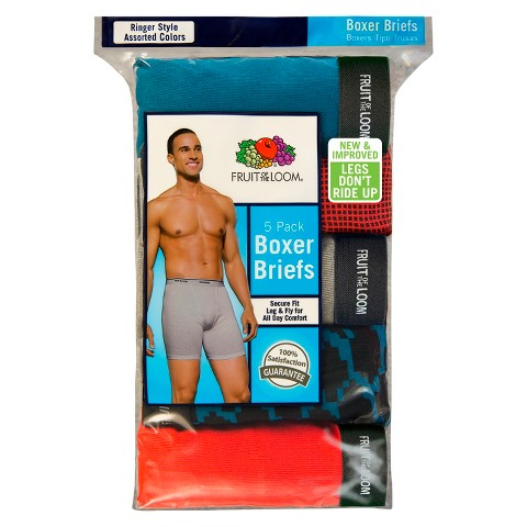 Fruit of the Loom Men's 5 pack Ringer Style Boxer Brief