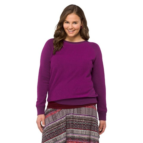 Plus Size Long Sleeve Crew Neck Top-Mossimo Supply Co