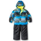 R-Way by ZeroXposur Infant Toddler Boys' Striped Puffer Jacket and Snow Bibs Set