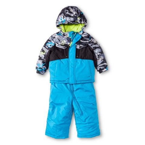 R-Way by ZeroXposur Infant Toddler Boys' Puffer Jacket and Snow Bibs Set