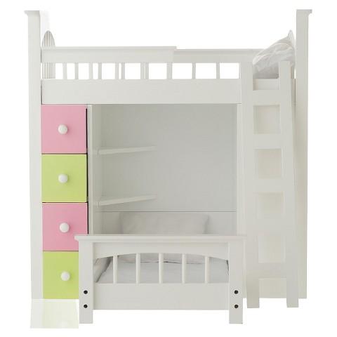 "Laurent Doll 18"" Doll Loft Bed Set"