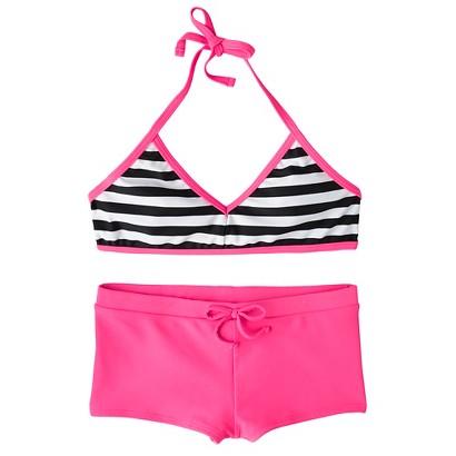 Girls' 2-Piece Striped Bikini Swimsuit Set
