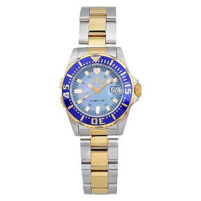Invicta Women's Stainless Steel 'Pro Diver' Quartz Two-Tone Link Watch - Gold/Silver (IN-2961)