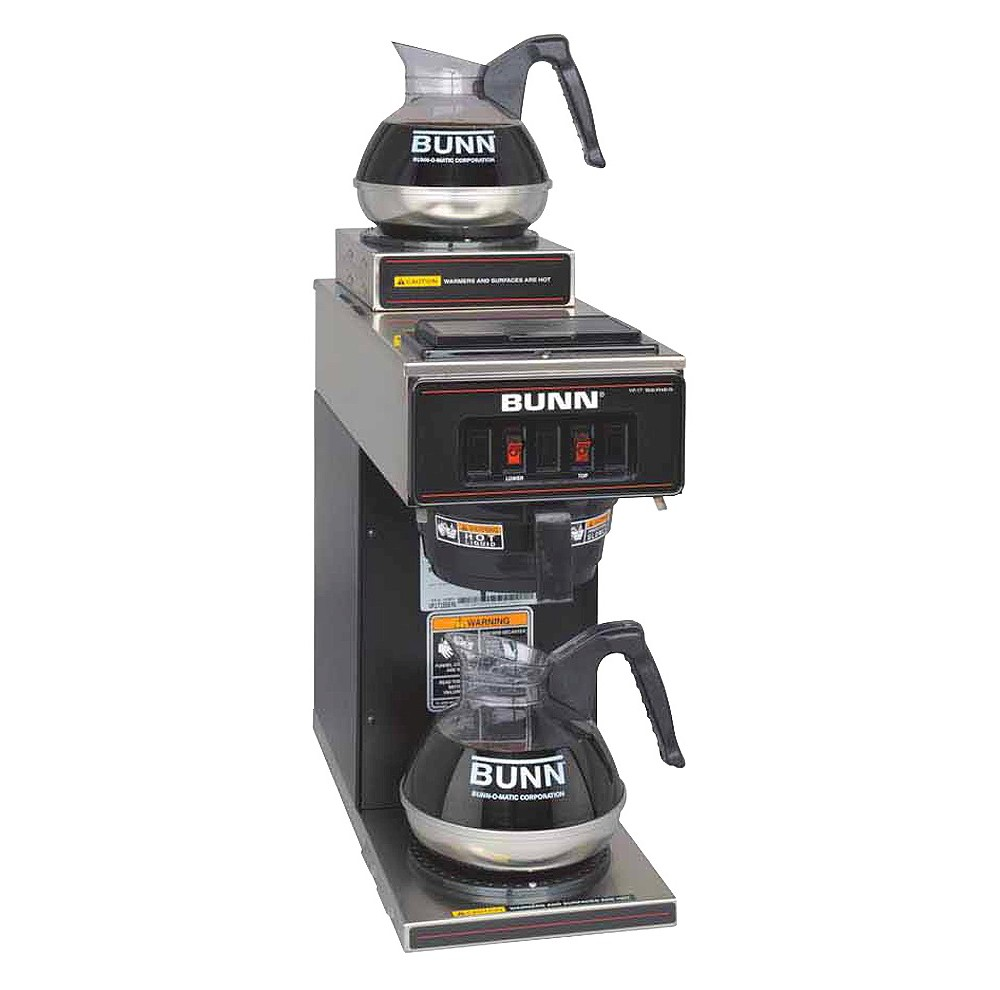 Bunn VP17-2, 12 Cup Commercial Coffee Brewer, 2 Warmers, Black