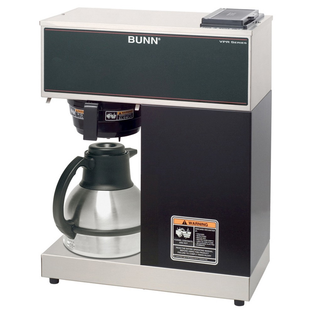 Bunn Vpr TC 12 Cup Commercial Thermal Coffee Brewer, Black/Silver