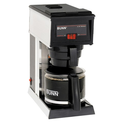 BUNN A-10 10-Cup Commercial Pourover Coffee Brewer, Black
