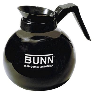 BUNN 12-Cup Commercial Glass Decanter, Black - Regular