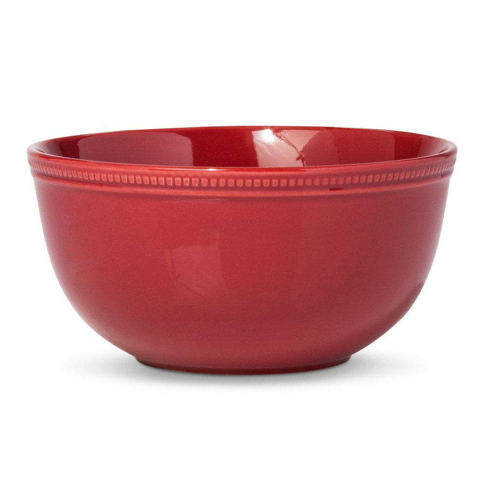 Tupperware Rock N Serve Round 3 Pc Bowl Set Candy Cane Red