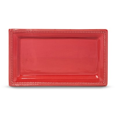 Threshold™ Traditional Round Small Rectangular Platter - Red
