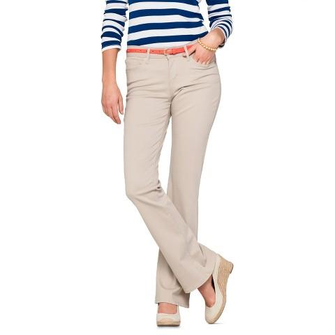 Women's Essential Stretch Bootcut Jean Khaki