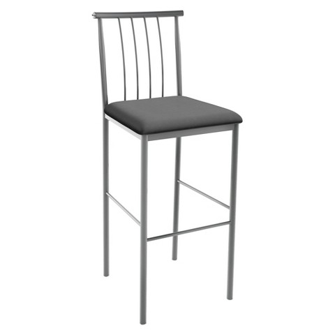 "Amisco Alan 24"" Counter Stool Gray"
