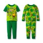 Toddler Boys' Teenage Mutant Ninja Turtles 4-Piece Mix & Match Pajama Set