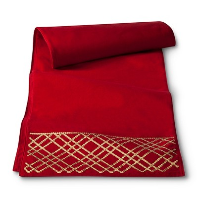 Threshold™ Sequined Table Runner - Red (14 X72 )