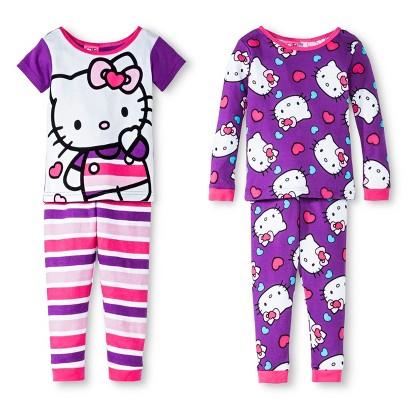 Hello Kitty Toddler Girls' 4-Piece Sleep Set